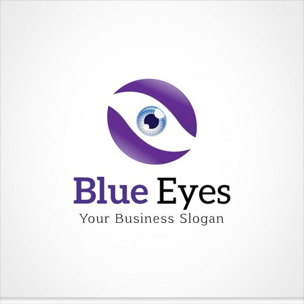 Blue Eye logo Free Vector