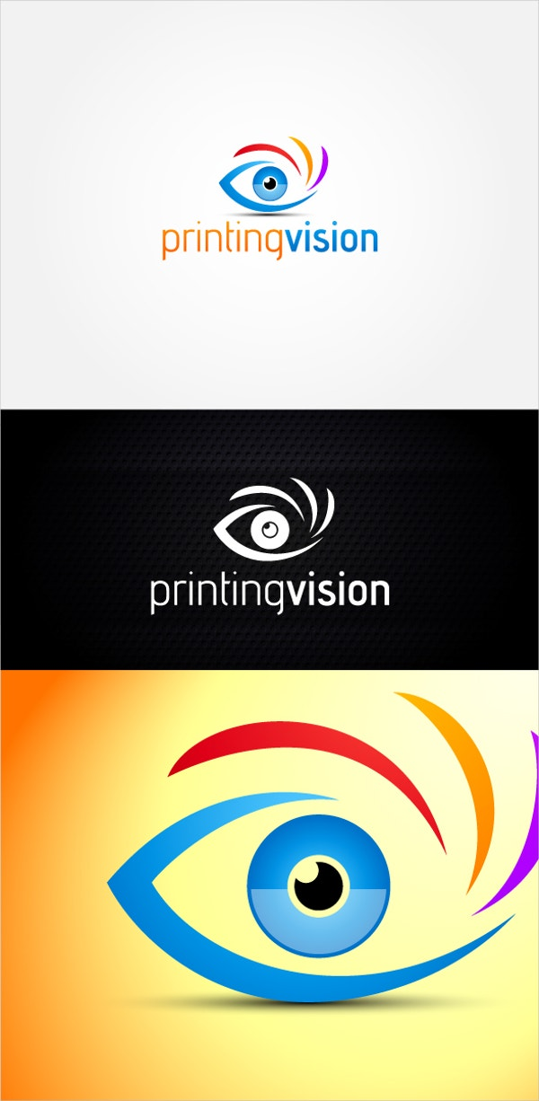 printing vision eye logo