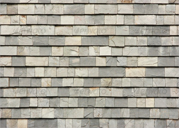 Gray Slab Roof Tiles Texture