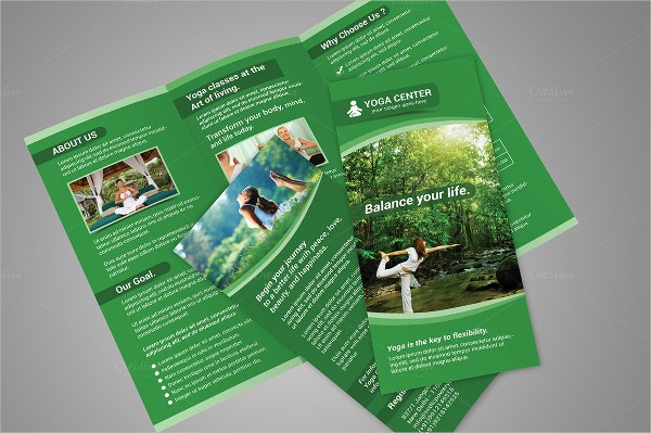Stylish Yoga Brochure Template