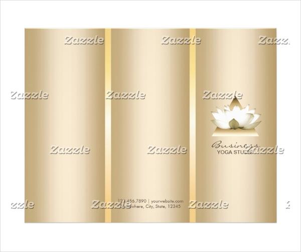 yoga studio gold brochure
