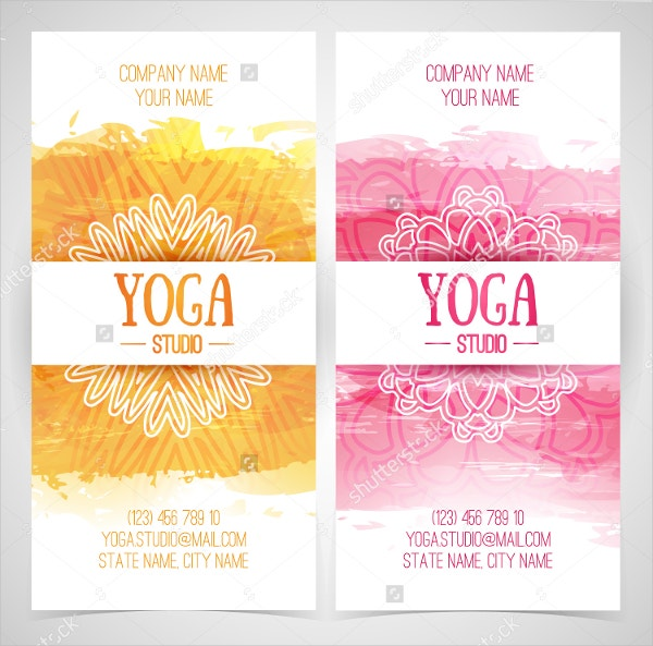 Watercolor Yoga Brochure