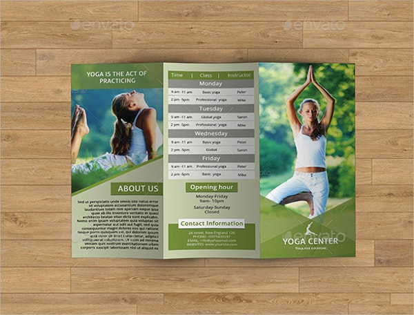 17 yoga brochures psd ai eps free premium templates for Brochure design for training institute