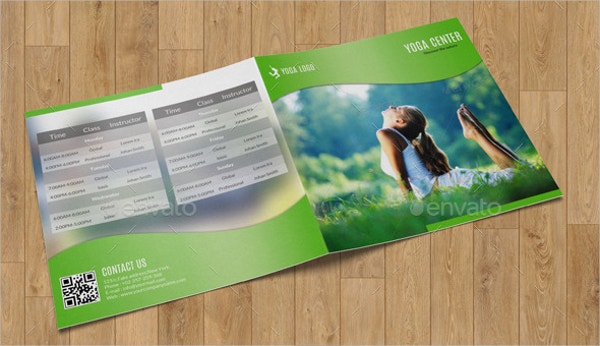 Square Bifold Yoga Brochure