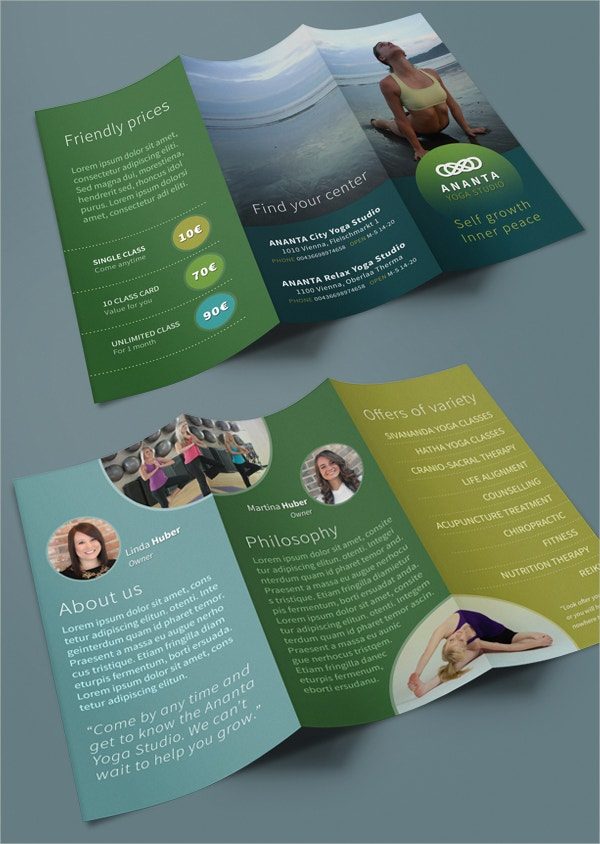 Yoga Brochures  Free Psd Ai Eps Format Download  Free