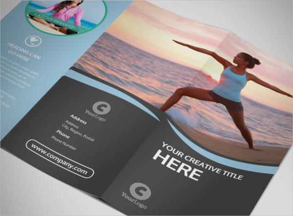 Spiritual Yoga Class Tri-Fold Brochure Template