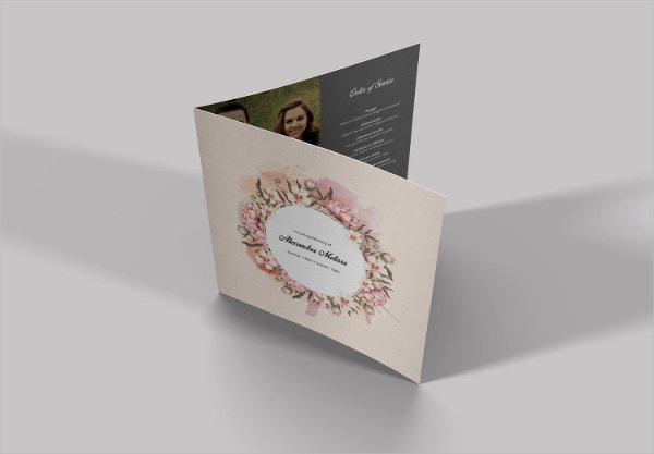 Square Funeral Service Brochure Template
