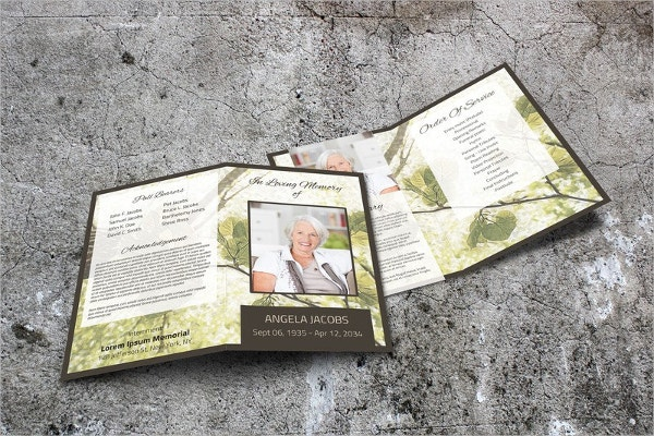 Green Leaves Memorial Service Brochure