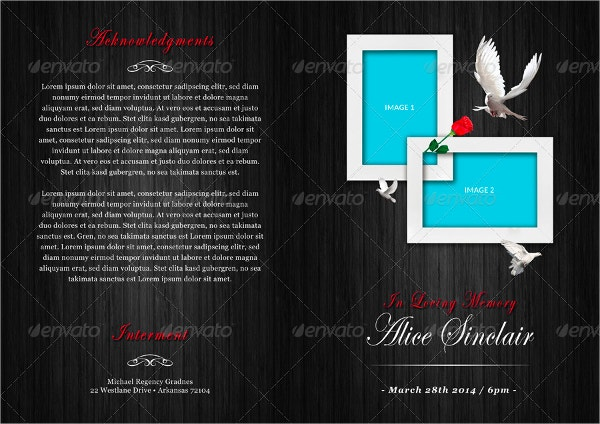 Modern Funeral Service Program Brochure Template
