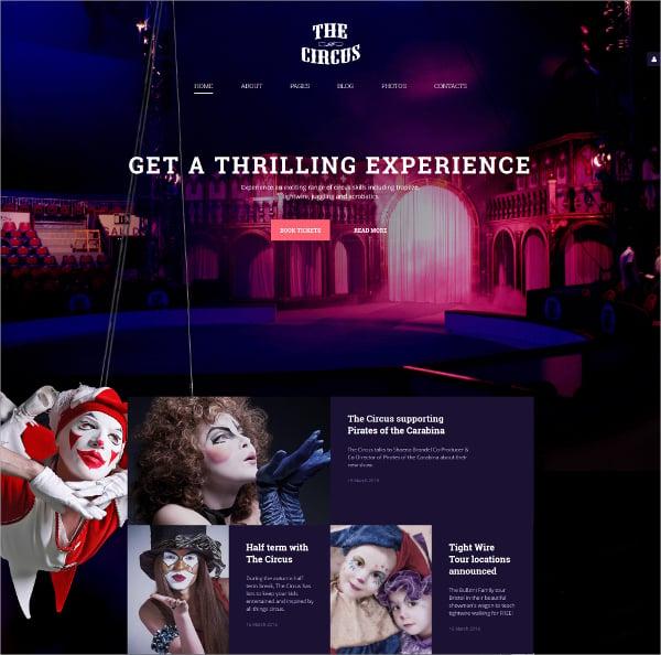Responsive Circus Joomla Website Template $75