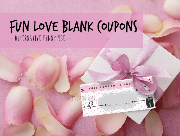 printable valentines day love blank coupons