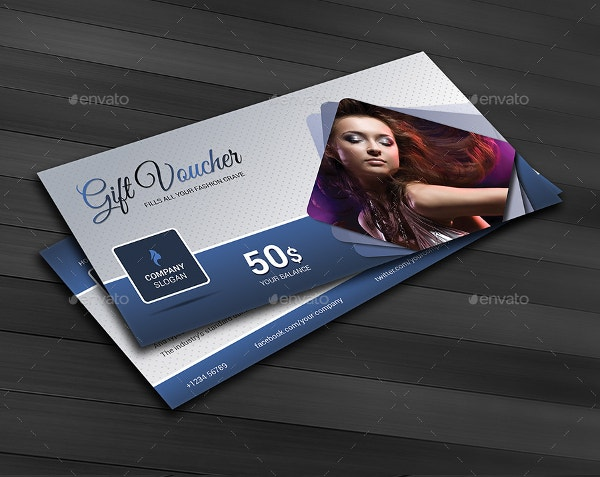 beauty business fashion gift coupon template