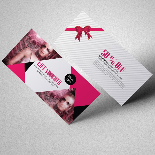 fashion gift coupon template