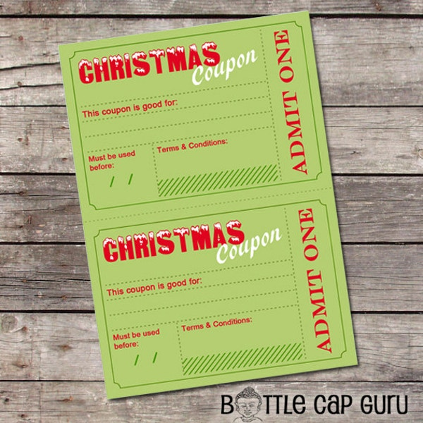 14 Coupon Templates Free Sample Example Format – Christmas Coupons Template