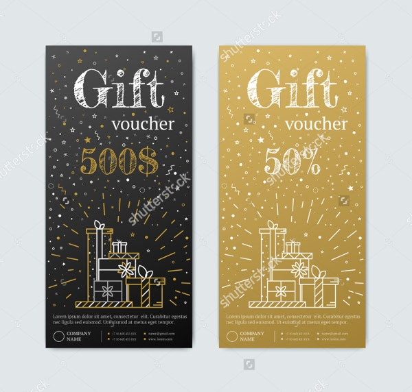 vertical birthday gift coupons template