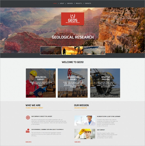 Industrial HTML5 Template $139