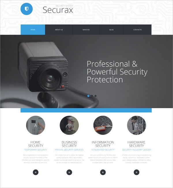 Security Responsive HTML5 Template $199