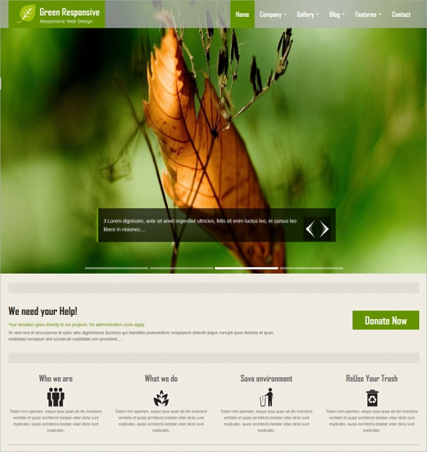 Charity HTML5 Website Theme $16
