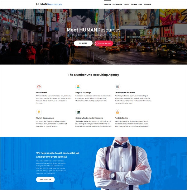 Human Resources HTML5 Template $199
