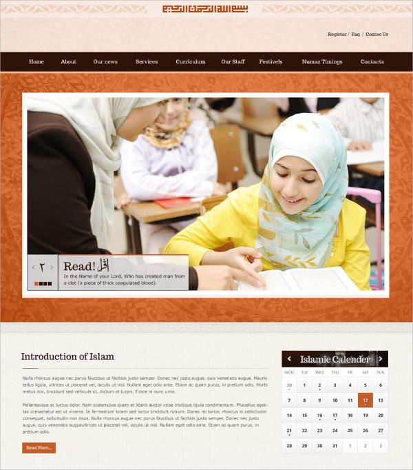 Islamic Responsive HTML5 Theme $17