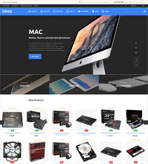 Electronic Magento HTML5 Theme $179