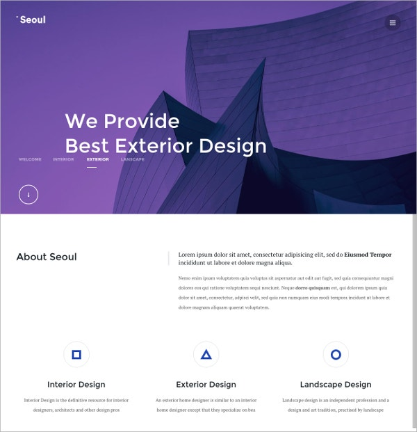 Agency One page WordPress Theme $44