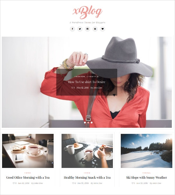 Feminine WordPress Theme For Bloggers $35