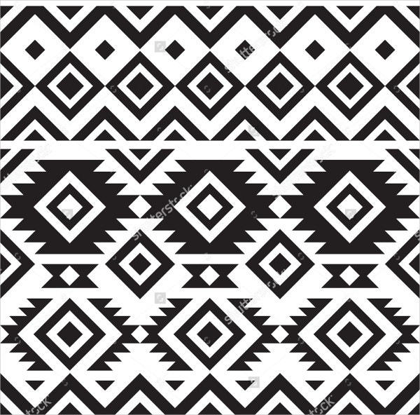 black and white tribal pattern1