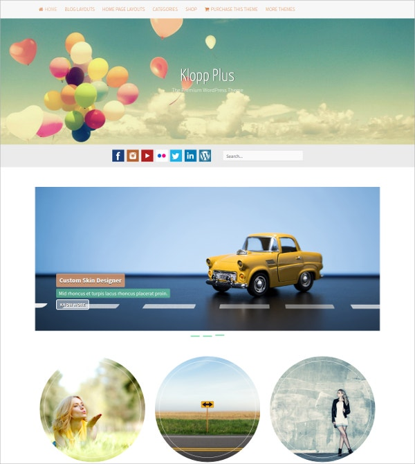 Multipurpose Stylish WP Theme $45