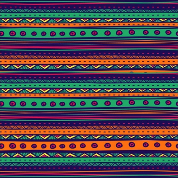 colorful ethnic tribal pattern