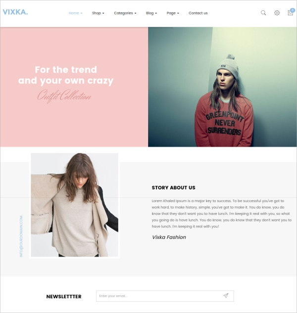 Fashion WooCommerce WordPress Theme $59