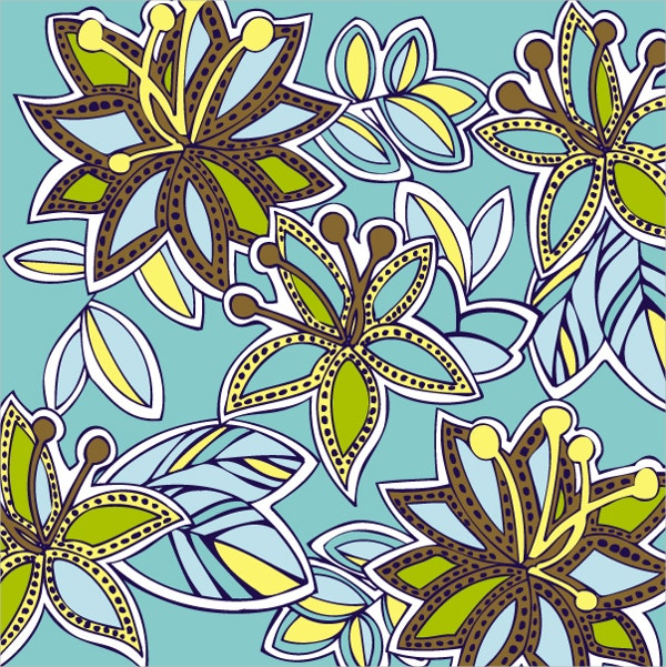 Floral Tribal Pattern