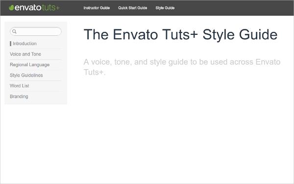 envato tuts style guide