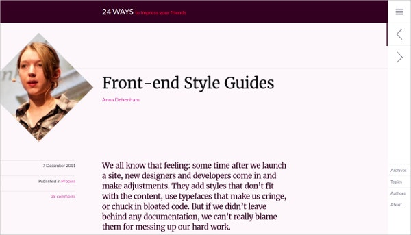 Front End Style Guides