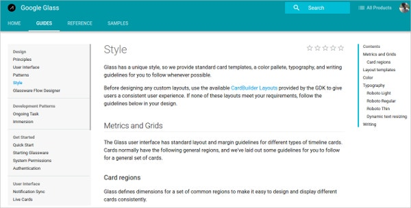Google Glass Style Guide