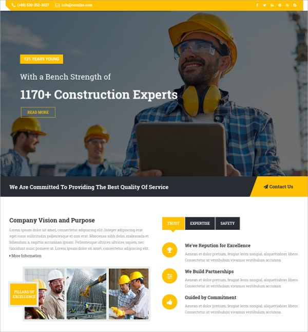 Joomla Construction Business Template $48