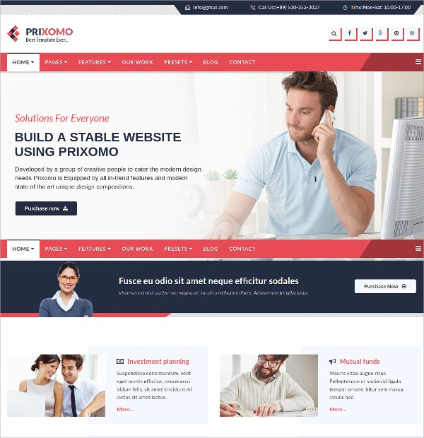 Responsive Multi Purpose Joomla Theme $48