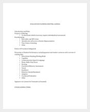 Evaluation Meeting Agenda