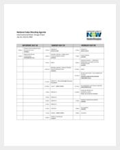 National Sales Meeting Agenda