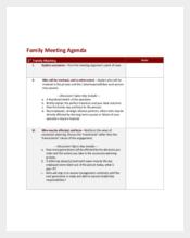 Emergency Family Meeting Agenda Template