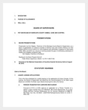 Board of Supervisiors Formal Meeting Agenda