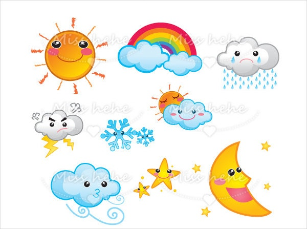 Cute Digital Weather Icon