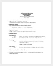Business Microsoft Meeting Agenda Template