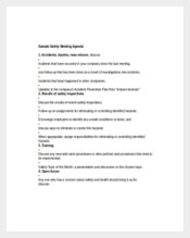Employee Safety Meeting Agenda Template