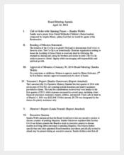 Board Client Meeting Agenda Template