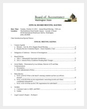 Client Annual Board Meeting Agenda