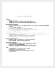 Generic Management Strategy Meeting Agenda Template
