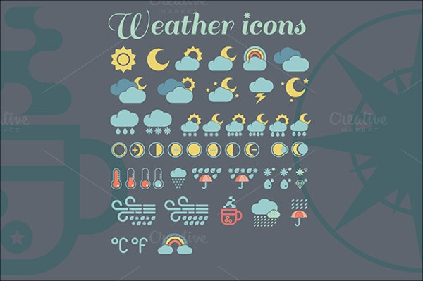 clipart weather icons