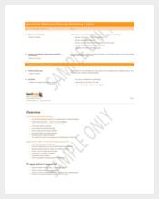 Agenda for Marketing Planning Workshop