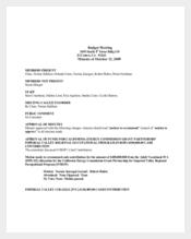 Budget Committee Meeting Agenda